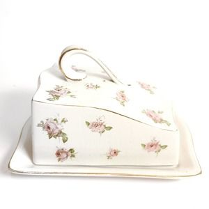 Vintage   Stoke on Trent England Covered Dish